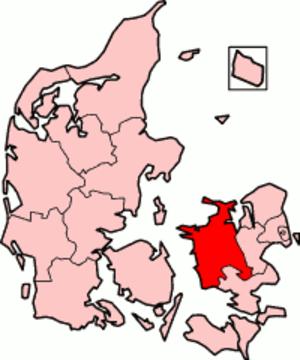 West Zealand County - West Zealand County in Denmark