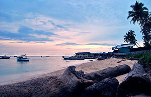 Derawan Islands - Derawan Island shoreline
