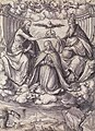 Design for a Stained Glass Window with the Coronation of the Virgin, by Hans Holbein the Younger.jpg
