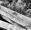 detail van de ingerotte daklijst van de kortrijkse molen - breukelen - 20042319 - rce