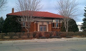 National Register of Historic Places listings in Becker County, Minnesota - Image: Detroit Lakes Carnegie Library 2012 09 27 22 26 27