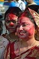 Devotees - Durga Idol Immersion Ceremony - Baja Kadamtala Ghat - Kolkata 2012-10-24 1377.JPG