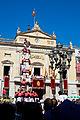 Diada castellera de Santa Tecla davant l'Ajuntament de Tarragona.jpg