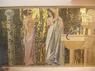 Leopold Forstner - Mosaic at the Dianabad (bathhouse), in Leopoldstadt