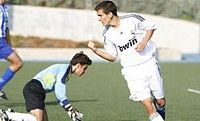 Diego Llorente tras marcar gol al Siete Picos Colmenar (Juvenil C).jpg