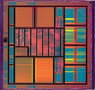 Very-large-scale integration - A VLSI integrated-circuit die