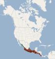 Distribution of Balantiopteryx plicata.png