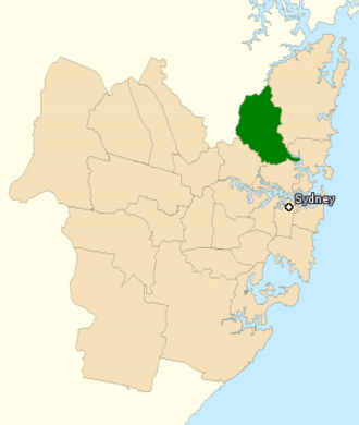 Division of Bradfield - Division of Bradfield in New South Wales, as of the 2016 federal election.