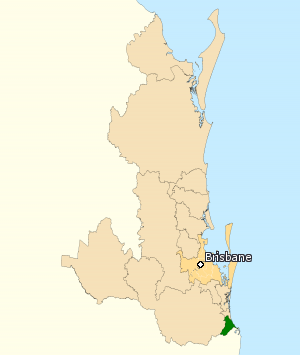 Division of McPherson - Division of McPherson in Queensland, as of the 2016 federal election.
