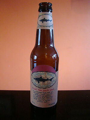 Bottle of Dogfish Head 90 minute Imperial Indi...