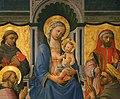 Domenico di michelino (attr.), madonna in trono tra santi, xv secolo, da s. girolamo a volterra 03.jpg