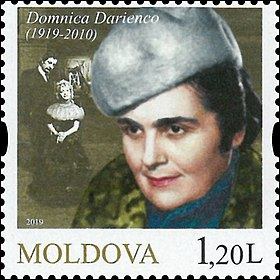 Domnica Darienco 2019 stamp of Moldova.jpg