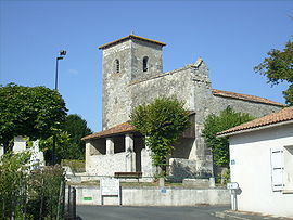 The church in Dompierre-sur-Charente