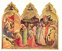 Adoration of the Magi by Don Lorenzo Monaco (1...