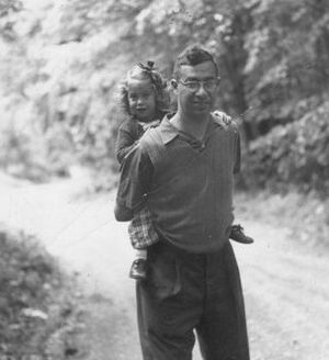 Donald A. Wollheim - Don Wollheim and his daughter Elizabeth (1954).