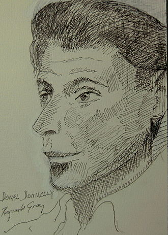 Donal Donnelly - Drawing by Reginald Gray. Dublin. 1956.