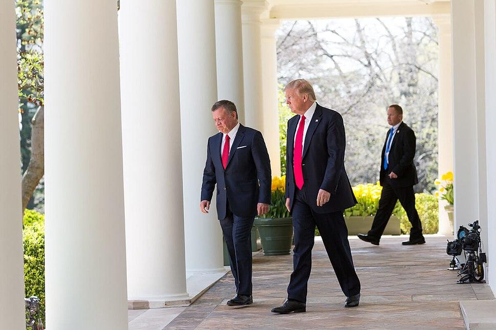Donald Trump and King Abdullah II