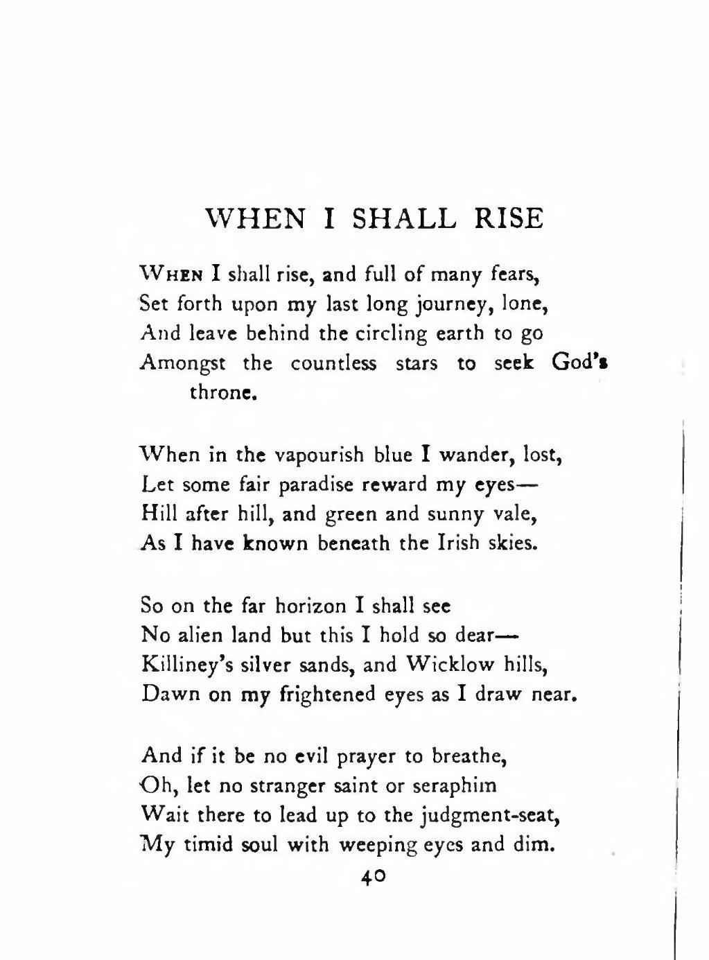 i shall rise poem