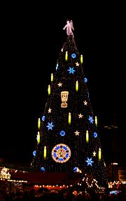 Dortmund BVB Christmas Tree 2012