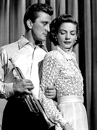 Kirk Douglas - Douglas and Lauren Bacall in Young Man with a Horn, 1950