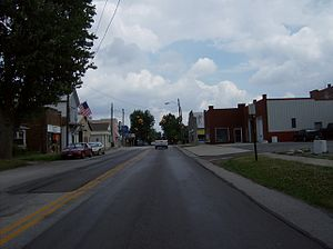 Arlington, Ohio - Along Main Street in downtown Arlington