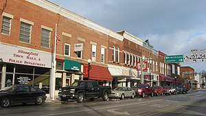 Bloomfield, Indiana - Buildings in downtown Bloomfield