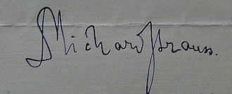 Richard Strauss - Signature of Dr. Richard Strauss