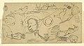Drawing, Sailing ship, Man in a boat, 1850 (CH 18193339).jpg