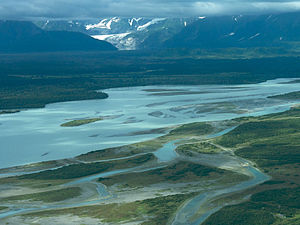 Dry bay at the Pacific coast and Alsek River