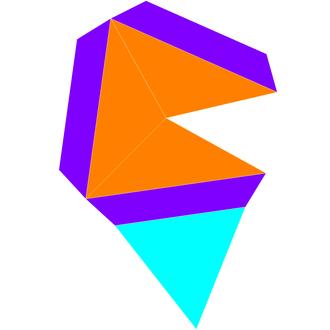 Elongated triangular pyramid - Image: Dual elongated triangular pyramid net