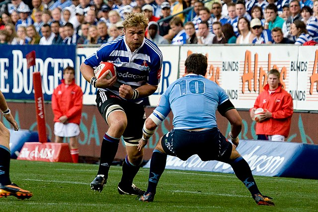 Vermeulen playing for Western Province in 2010 Duane Vermeulen 2010 WP.jpg