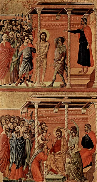 Flagellation of Christ - Image: Duccio di Buoninsegna 030