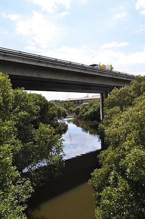 M4 Western Motorway - Image: Duck River M4