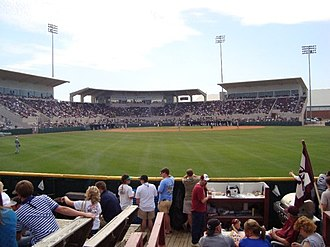 Dudy Noble Field, Polk–DeMent Stadium - Old Dudy Noble Field from the outfield