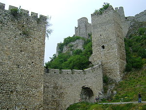 Golubac Fortress - Main entrance and forward compound