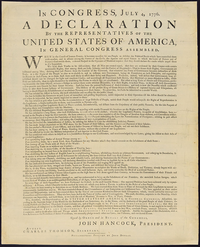 united states declaration of independence The declaration's most important diplomatic effect was to allow for recognition of the united states by friendly foreign governments the sultan of morocco mentioned american ships in a consular document in 1777, but congress had to wait until the 1778 treaty of alliance with france for a formal recognition of us independence.