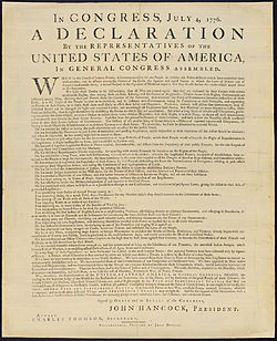 Jefferson's draft of the Declaration of Independence, 28 June, 1776