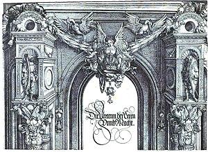 Triumphal Arch (woodcut) - Image: Durer, arco trionfale, 02