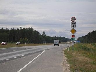 Kodasoo - Tallinn–Narva road (part of European route E20 on the territory of Kodasoo village.