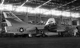 VAQ-130 - VAW-13 EKA-3B at NAS Alameda in 1968