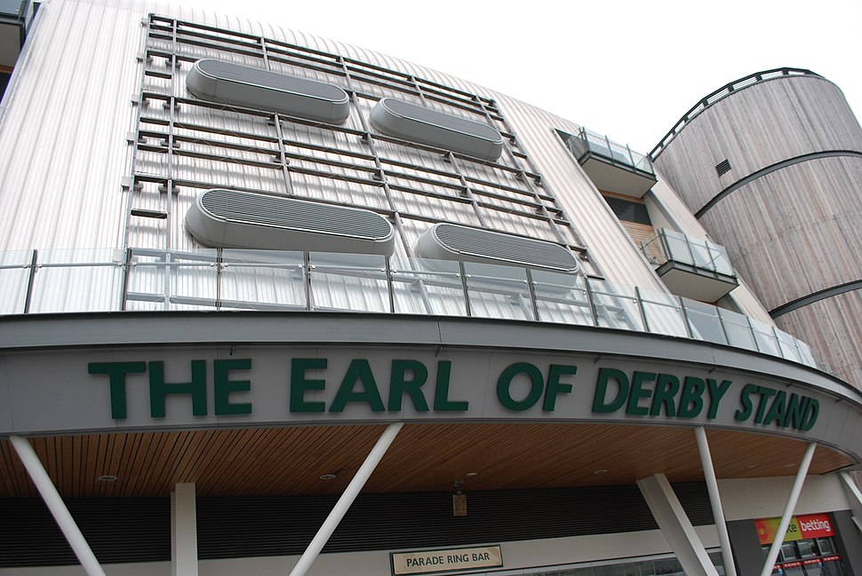 Earl of Derby Stand and Aintree Racecourse.JPG