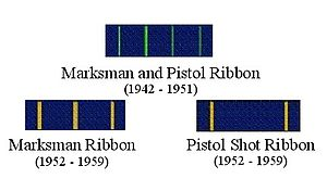 Distinguished Marksmanship Ribbon - Former U.S. Navy Distinguished Marksmanship Ribbons