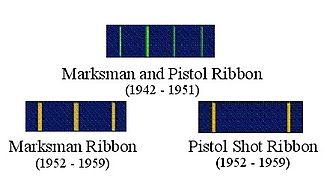 Distinguished Marksmanship Ribbon - Former U.S. Navy Distinguished Marksmanship Ribbons
