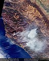 Earth from Space Soberanes Fire, Monterey County, CA, USA August 23rd (29100754952).jpg