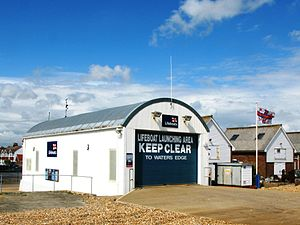 Eastbourne Lifeboat Station - The Eastbourne Inshore Lifeboat Station, from where D-class inflatable inshore lifeboats are launched