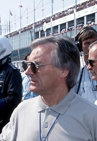 1982 Formula One World Championship - Bernie Ecclestone (pictured in 1991), owner of Brabham and chairman of FOCA, was one of the leading figures in the FISA–FOCA war.