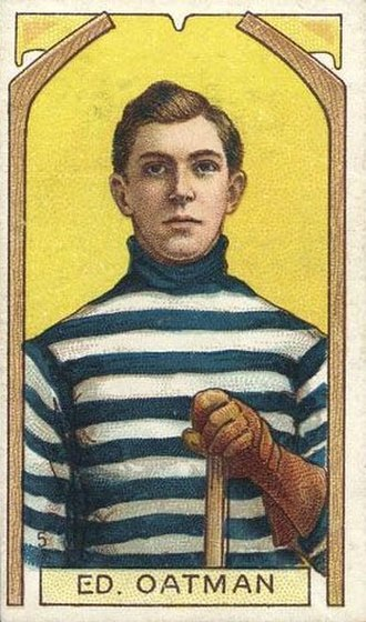 Eddie Oatman - Oatman with the Quebec Bulldogs on a 1911 Imperial Tobacco hockey card.