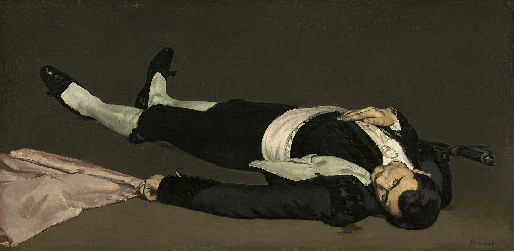 Eduard Manet: Torero muerto (pintado hacia 1864).