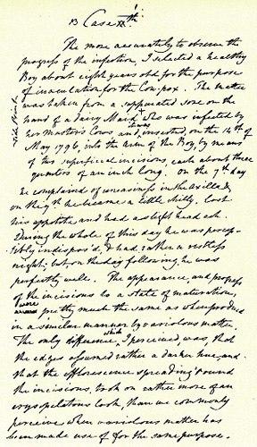 Edward Jenner manuscript