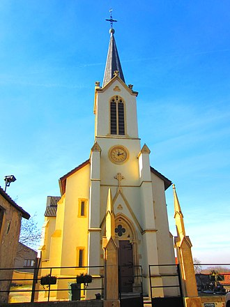 Antilly, Moselle - The church in Antilly